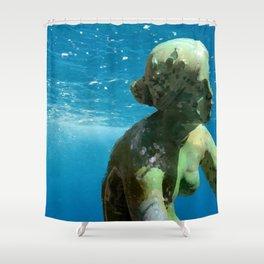 Silence Drowning Silently Shower Curtain