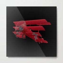 DR-1 Red Baron Triplane WWI Warbird Metal Print