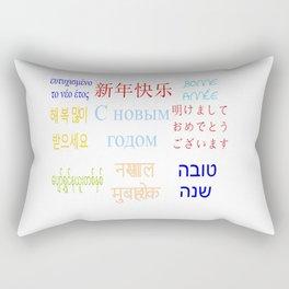 happy new year 9 Rectangular Pillow