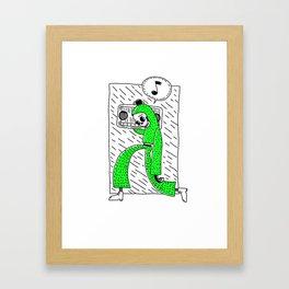 Boombox grn Framed Art Print