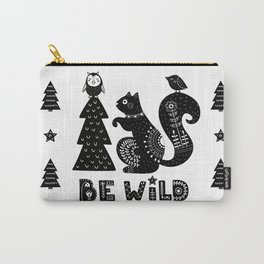Be Wild Cute Owl And Squirrel In Scandinavian Style Carry-All Pouch
