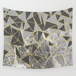 Ab Marb Grey Returned Wall Tapestry
