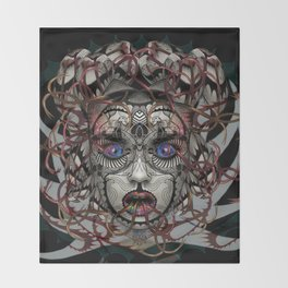 Google Medusa Throw Blanket
