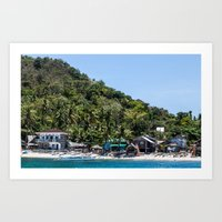 philippines Art Prints featuring Apo Island Philippines by Jennifer Stinson