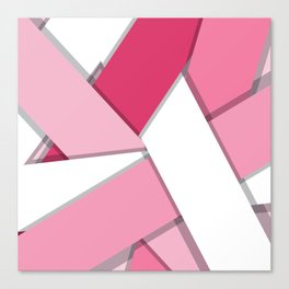 Flat Abstract Modern Design Vector Pattern breast cancer awareness  Canvas Print