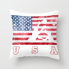Team USA Water Polo on Olympic Games Throw Pillow