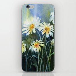 Daisies Watercolor Abstract Flowers iPhone Skin