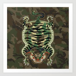 TIBETAN TIGER - CAMOUFLAGE Art Print