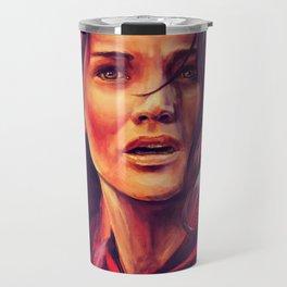 Girl on Fire Travel Mug