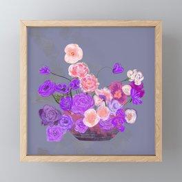 The arrangement in purple Framed Mini Art Print
