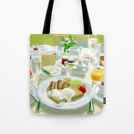 Breakfast at a Hotel Tote Bag