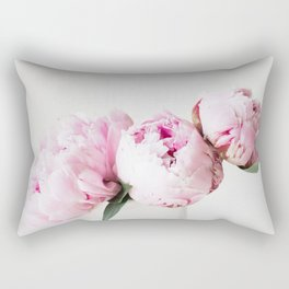 Peonies in a Vase Rectangular Pillow