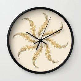 Feather Harmony Wall Clock