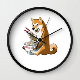 Shiba Inu Dog Ramen Wall Clock