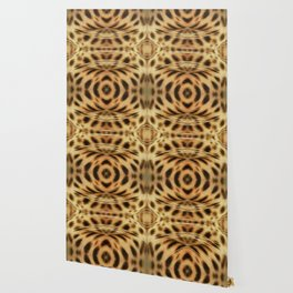 Mid Century Leopard in Tropical Forest Wallpaper