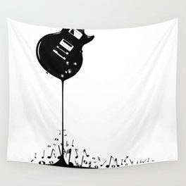 Bubbling Musical Notes Wall Tapestry