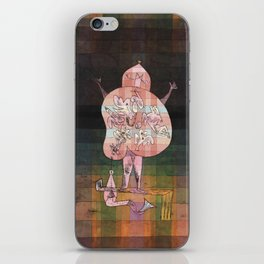 Ventriloquist and Crier in the Moor Paul Klee iPhone Skin