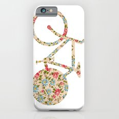 Whimsical cute girly floral retro bicycle Slim Case iPhone 6