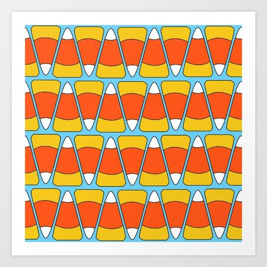 Candy Corn Sweetness / Pattern Art Print