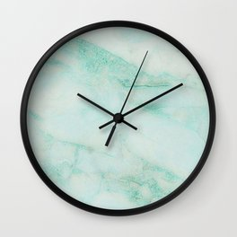 Teal Dream Marble Print Wall Clock