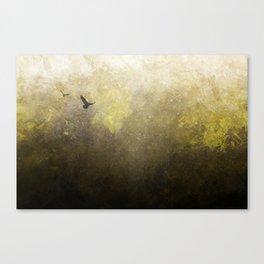 Golden Space Flight Canvas Print