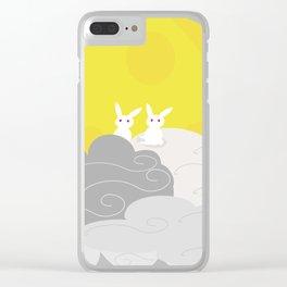moon rabbit Clear iPhone Case