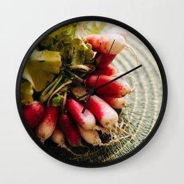 Red Radishes Kitchen Art Wall Clock