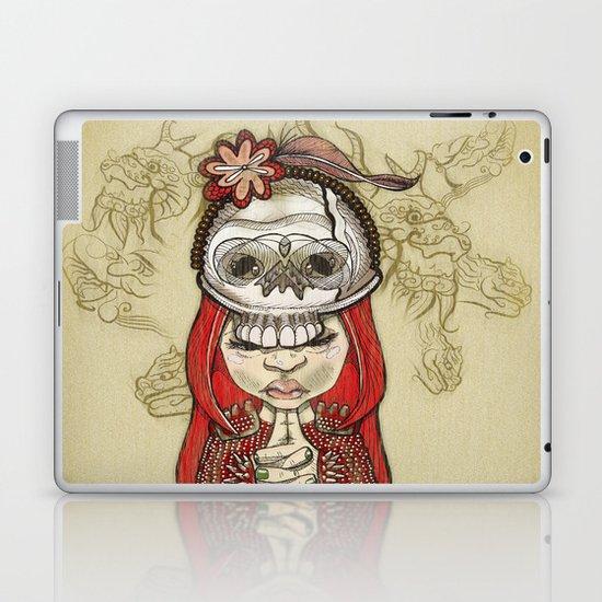 i wear my lucky skull Laptop & iPad Skin