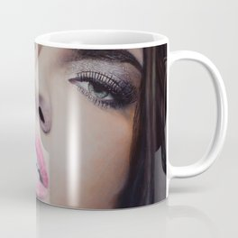 Adriana Lima Oil on Canvas Portrait Coffee Mug