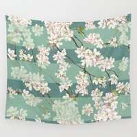 sakura Wall Tapestries featuring Sakura by Maria Durgarian