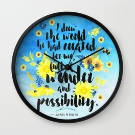 Me Before You - Wonder and Possibility Wall Clock