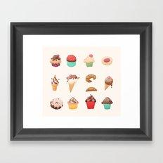 Desserts Framed Art Print