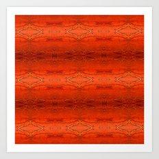 Rustic Orange Geometric Southwestern Pattern - Luxury - Comforter - Bedding - Throw Pillows - Rugs Art Print