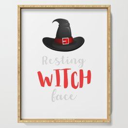Resting Witch Face Halloween Costume Serving Tray