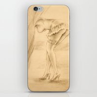 erotic iPhone & iPod Skins featuring Erotic - Girl in lingerie by Marita Zacharias