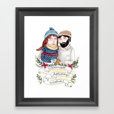 Warmest Holiday Wishes Framed Art Print