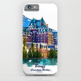 Castle in the Mountains - Banff Alberta Canada iPhone Case