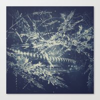 blueprint Canvas Prints featuring Blueprint by Jesse Rather