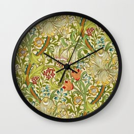 William Morris Golden Lily Vintage Pre-Raphaelite Floral Wall Clock