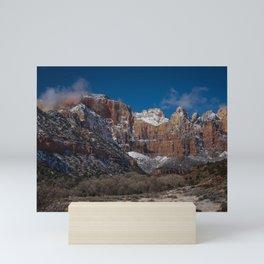 Zion Winter 4720 - National Park, Utah Mini Art Print