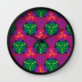 Passionate Perennials Wall Clock