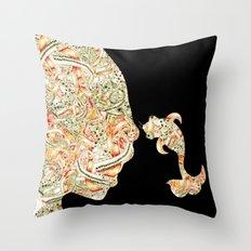 Homme Poisson  Throw Pillow