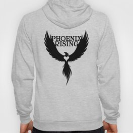 PHOENIX RISING black and heart center Hoody
