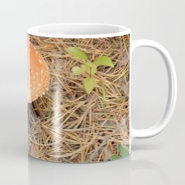 Picking mushrooms edible and not very in the woods Coffee Mug