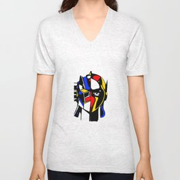 When Mondrian met Actarus Unisex V-Neck
