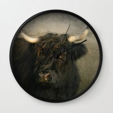 The Black Cow Wall Clock