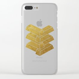illusory (Black) Clear iPhone Case