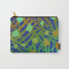 Abstract Paint Pattern Peacock Carry-All Pouch