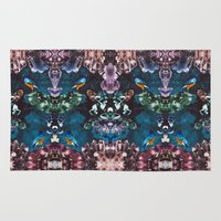 crystal Area & Throw Rugs featuring Crystal by Kangarui by Rui Stalph