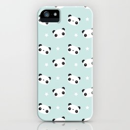 Panda in love iPhone Case